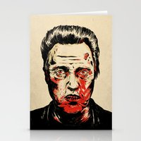 christopher walken Stationery Cards featuring Walken Dead by Chase Kunz