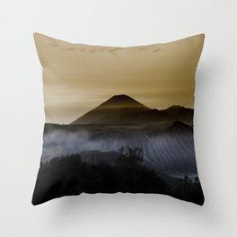 Mt. Bromo, Indonesia Throw Pillow