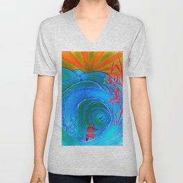 Imagination Surfer  Unisex V-Neck