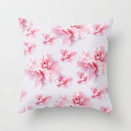 Pink Azalea Flower Dream #1 #floral #pattern #decor #art #society6 Throw Pillow
