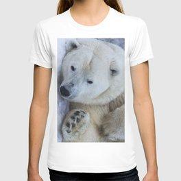 Funny Sleepy Polar bear close-up. T-shirt