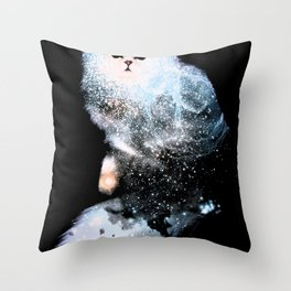 Celestial Cats - The Persian and the Ashes of the First Stars Throw Pillow