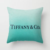 tiffany Throw Pillows featuring Tiffany by Christine Leanne