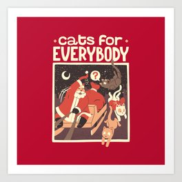 Cats for Everybody Art Print