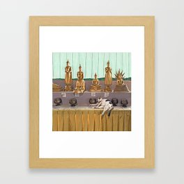 Big Buddha Cat - Thailand Framed Art Print