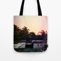 mexico Tote Bags featuring Mexico by Lauren Emily