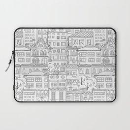 Doodle town pattern Laptop Sleeve