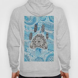 Zentangle Paw Print with Background Hoody