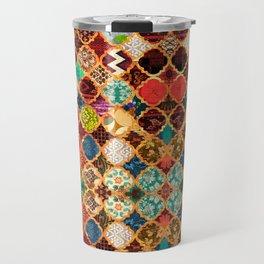 -A32- Epic Colored Traditional Moroccan Artwork. Travel Mug