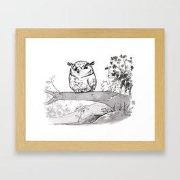 Advices of the big owl Framed Art Print