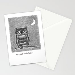 Au clair de la lune Stationery Cards