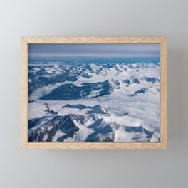 Aerial Glacier Four - Alaska Framed Mini Art Print