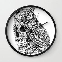Great Horned Skull Wall Clock