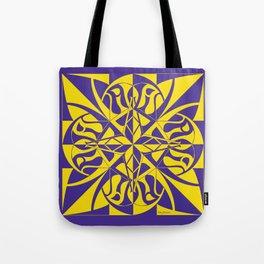 Think Mandala - Purple Yellow Tote Bag