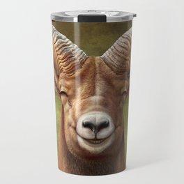 Smiling Bighorn Sheep 03 Travel Mug