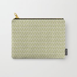 Abstract geometric pastel green white gradient triangles Carry-All Pouch
