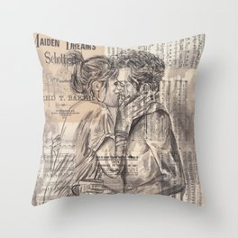 Morning Kiss Throw Pillow