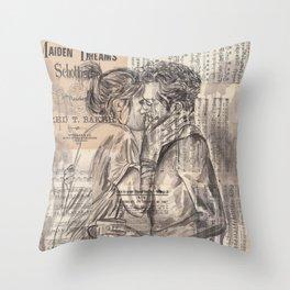 Morning Kiss Throw Pillow