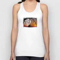sun and moon Tank Tops featuring Sun, moon and stars  by Pirmin Nohr
