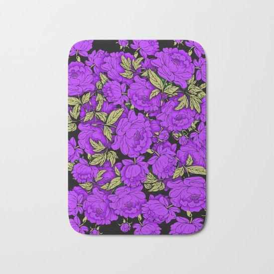 Purple Peonies Bath Mat