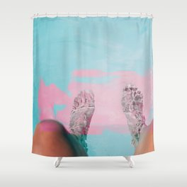 Both Feet In #society6 #buyart Shower Curtain