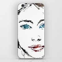 no face iPhone & iPod Skins featuring face by Artemio Studio
