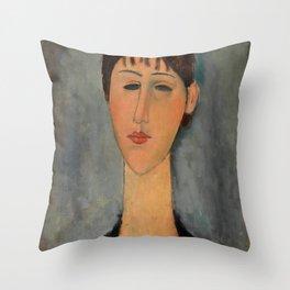 "Amedeo Modigliani ""Portrait of Mme Zborowska"" Throw Pillow"