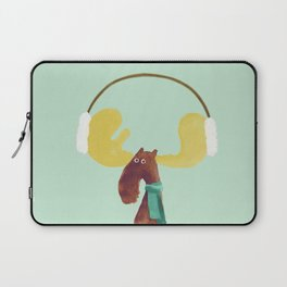 This moose is ready for winter Laptop Sleeve