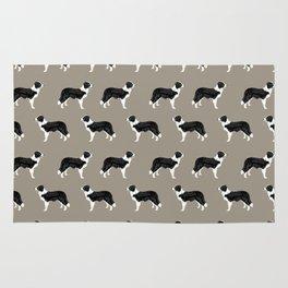 Border Collie dog pattern pet friendly dog art dog lover gifts with favorite dog breeds Rug