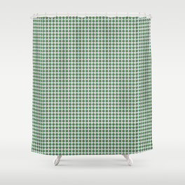 Phillip Gallant Media Design - Colored Circles Between White Circles Shower Curtain