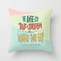 queens of the stone age Throw Pillows featuring Queens of the Stone Age by Josh LaFayette