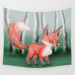 Cute fox Wall Tapestry
