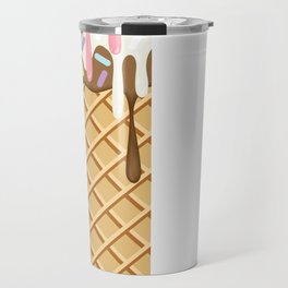 Neapolitan Ice Cream with Sprinkles Travel Mug