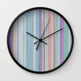 vintage fantasy color stripes Wall Clock