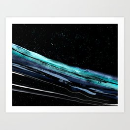Bridging space Art Print