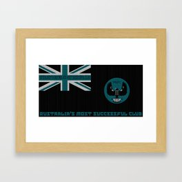 PAFC SA Flag - Port Adelaide Magpies Framed Art Print