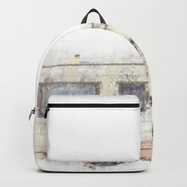 vintage camping bus painting illustration Backpack