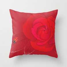 Rosa Ingrid Bergman Throw Pillow