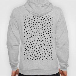 Dalmatian dots black Hoody