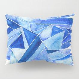 Sapphire Watercolor Facets Pillow Sham