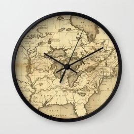 Great Lakes Map - 1737 Wall Clock