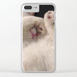 Milo's toe beans Clear iPhone Case