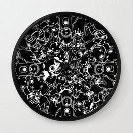 For Good For Evil - Black on White Wall Clock