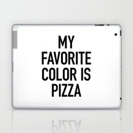 My Favorite Color is Pizza - White Laptop & iPad Skin