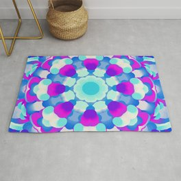 Blue Pink Purple White Kaleidoscopic Design - 100321.2 Rug