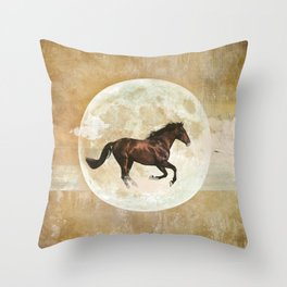 Horses should run free Throw Pillow