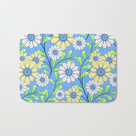 Bright floral pattern. Bath Mat