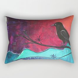"""""""Manifest"""" Original painting by Carly Mojica Rectangular Pillow"""