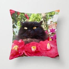 King of flowers  Pomponio Mela Throw Pillow