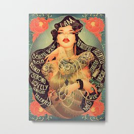 Tattoo Addicts Tattoo Girl I Am Metal Print